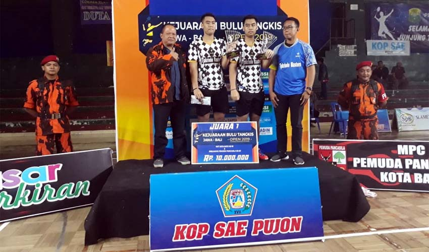 Tim Surabaya Rajai Turnamen Bulutangkis se-Jawa Bali di Event Pemuda Pancasila Kota Batu