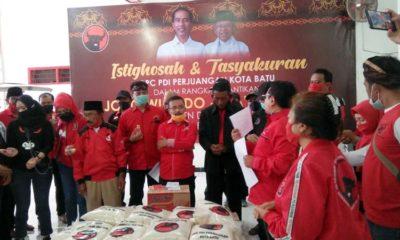 PDI Perjuangan Kota Batu Bagikan Sembako ke Seluruh Desa dan Kelurahan